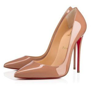 Christian Louboutin So Kate 120mm Patent Pump Nude